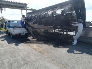 志賀町漁業協同組合での作業