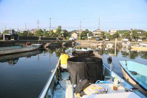 漁港に戻ります。
